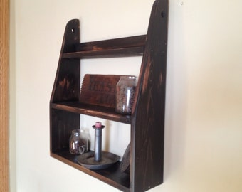 Primitive hanging wall shelf