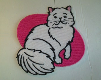 Embroidery Iron-on Patch - Persian Cat