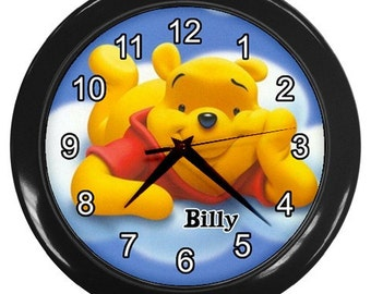 Personalized Disney Winnie The Pooh Wall Clock Gift Time