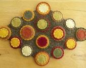 Penny Rug candle mat hot pad trivet table mat
