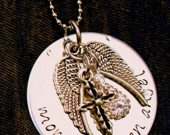 Mommy of an Angel necklace handstamped and personalized