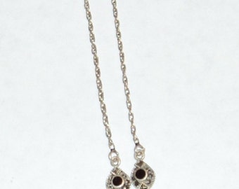 Exquisite Vintage Dainty Silver Marcasite Necklace -- Price Reduced