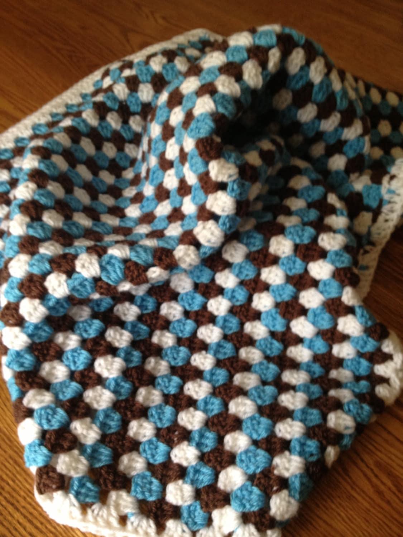 Crochet Pattern For Granny Stripe Baby Blanket : Granny Striped Crochet Baby Blanket by SwansNestCreations ...