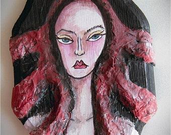 """Original art """"Medusa"""" - original painting on wood"""