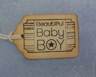 Baby Tags, Baby Boy tag,  Gift Tag, New Baby tag, Boy gift tag, Baby Shower Tag
