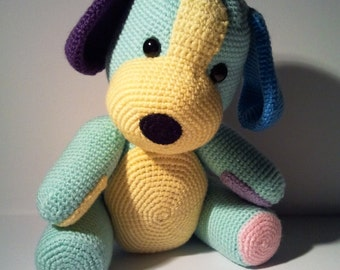 "PDF crochet pattern - pattern ""The Hundeteddy"""