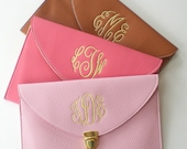 Clutch Purse with Detachable Chain Monogram Gifts Graduation Gift Mothers Day Gift