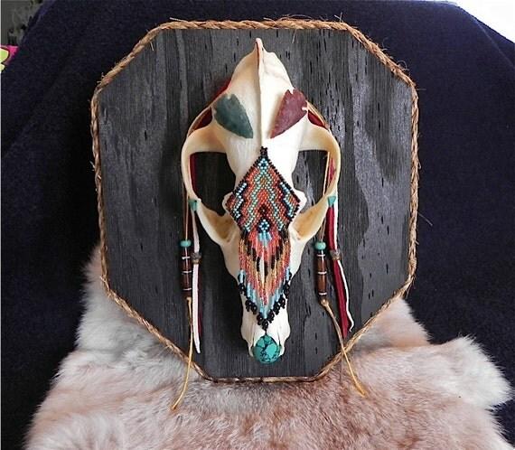 coyote skull native american wall art. Black Bedroom Furniture Sets. Home Design Ideas