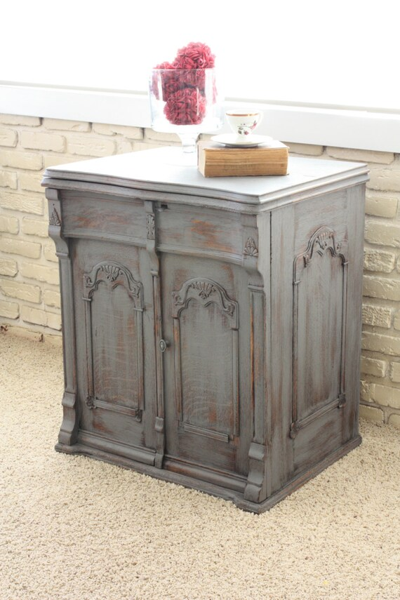 antique grey end table charcoal grey antique nightstand end table reserved for 4092