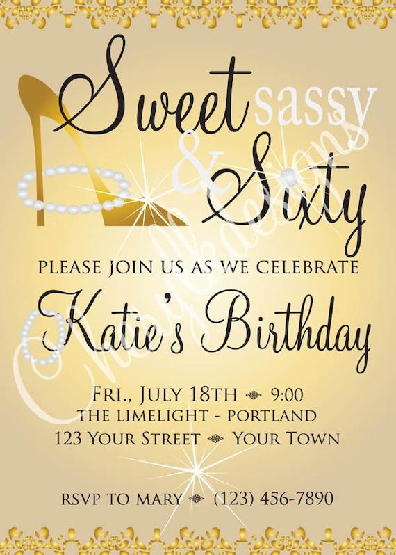 Sweet Sassy Amp Sixty Birthday Invitation And 2 By
