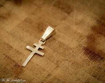 Sterling Silver Lorraine Cross Pendant