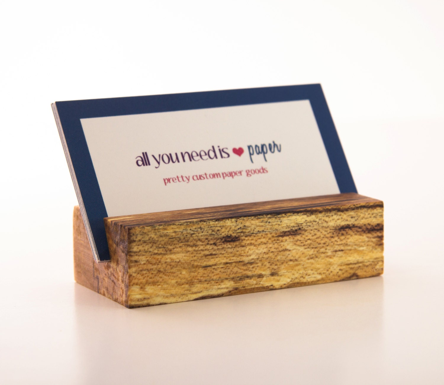 Wooden Business Card Holder Maple