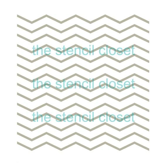 12 x12 Thin Chevron stencil