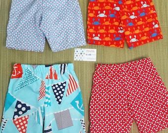 Nautical Collection - Print Shorts - Summer Shorts - Boys Shorts - Toddler Pants 3M - 4T