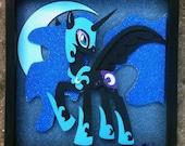 """12""""x12"""" Nightmare Moon Shadowbox"""