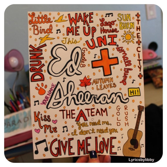 ed Sheeran Lyrics Drawing Il_570xn.463520310_llbr.jpg