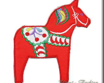 dala horse - patch - applikation - Dalahäst, choose color