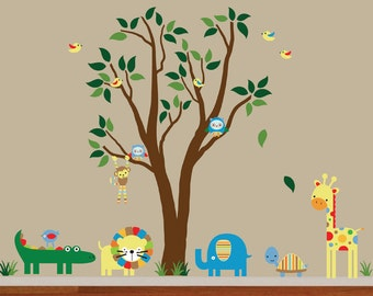 Tree WALL DECAL Jungle Wall Decal - 996