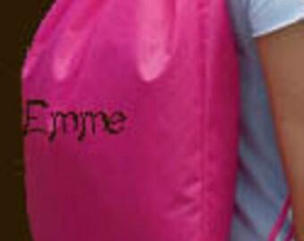 Drawstring Backpack Cinch Sak Sports, Gym, Cheer Bag Free Embroidery Name Monogram