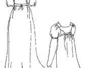 PI464 - 1800-1815 Bib Front Muslin Dress Sewing Pattern by Period Impressions