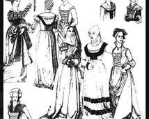 PP46 -  Woman's German Puff-and-slash Renaissance Pattern