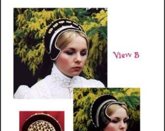 MC04 - Elizabethan French Hood Sewing Pattern by Lynn McMasters