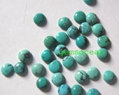 Lot of Stunning 25 Pieces AAA Quality Natural Turquoise Cabochon 5x5 mm round Loose Gemstone Calibrated