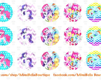 My Little Pony Friendship Is Magic Digital Bottle Cap Images Pinky Pie, Rarity, Rainbow Dash