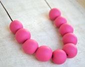 Rhubarb - Polymer Clay Necklace