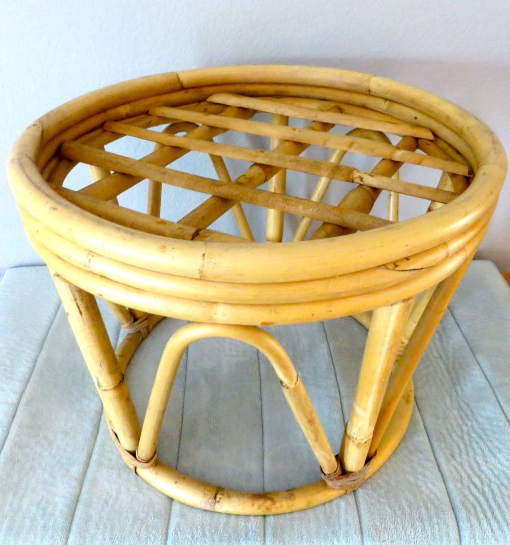 Rattan Stool Side Table