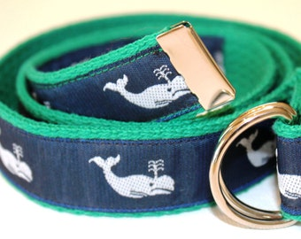 Children's Preppy Whale Belt for Boys and Girls-Multiple Colors