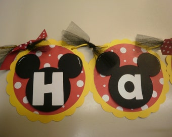 Mickey Mouse Happy Birthday Banner