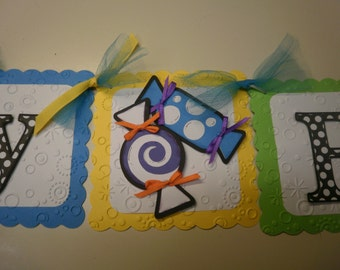 Colorful Sweet Candy Birthday Banner