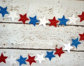 Patriotic Paper Star Garland