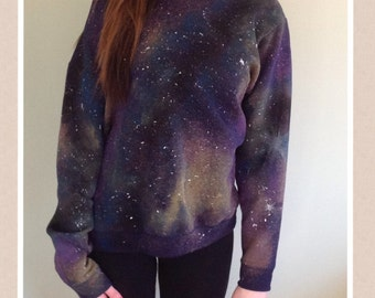 One of a kind GALAXY/COSMIC SWEATSHIRT - medium