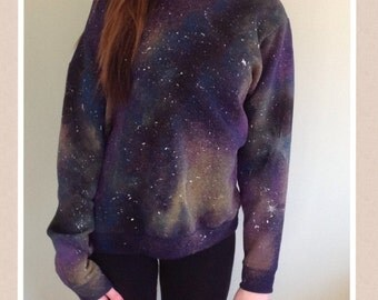 One of a kind GALAXY/COSMIC SWEATSHIRT -extra large