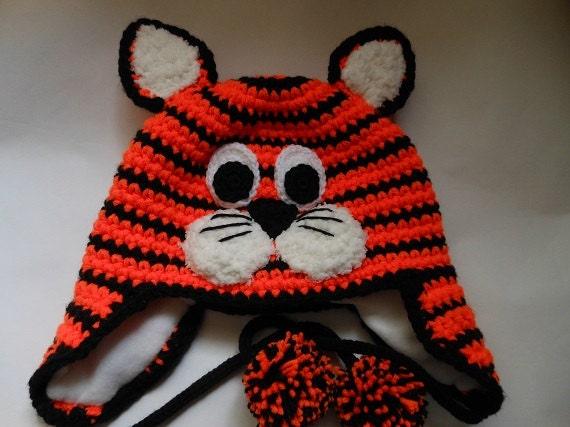 Tiger Hat Crochet Pattern by WistfullyWoolen on Etsy