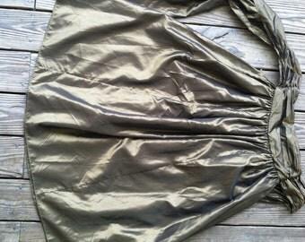 Vintage Laura Ashley bronze taffeta skirt