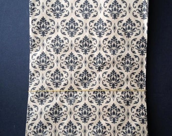 "25 Damask and Craft Colored 6""x9"" paper bag - Great for treats or gift wrap"