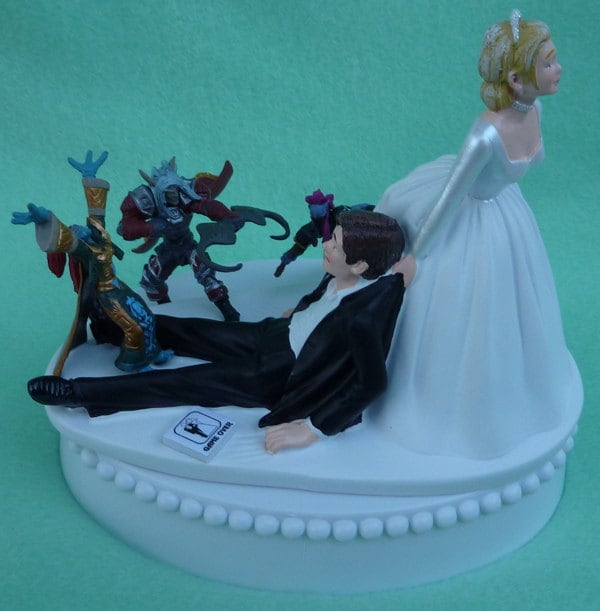 wow wedding cake topper wedding cake topper world of warcraft wow 1 player 27659