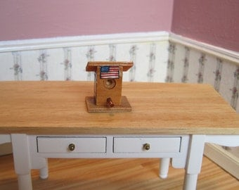 Dollhouse Miniature American Patriotic Bird House ~ 4th of July ~