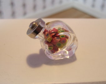 Dollhouse Miniature Candy in an Old fashioned Candy Jar