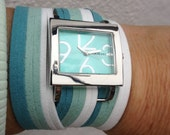 Teal Hombre wrap watch