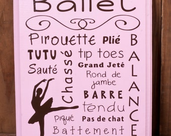 Ballerina Wooden Sign - Ballet Recital Gift