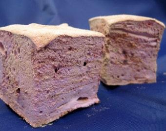 Raspberry Chocolate Swirl Marshmallows - 1 dozen fair trade Gourmet homemade marshmallows