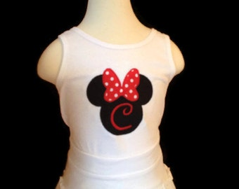Disney Minnie Mouse Tank Top with Initial - Youth