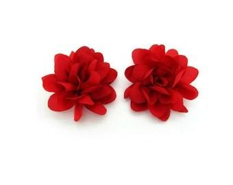 Fabric Flower Shoe Clip