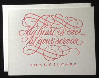 Valentine's Card (Letterpressed Calligraphy)