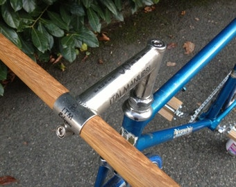 wooden bicycle handlebar oak