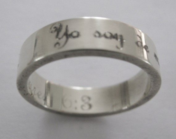 Spanish Latino I Am My Beloveds Ring Engraved By
